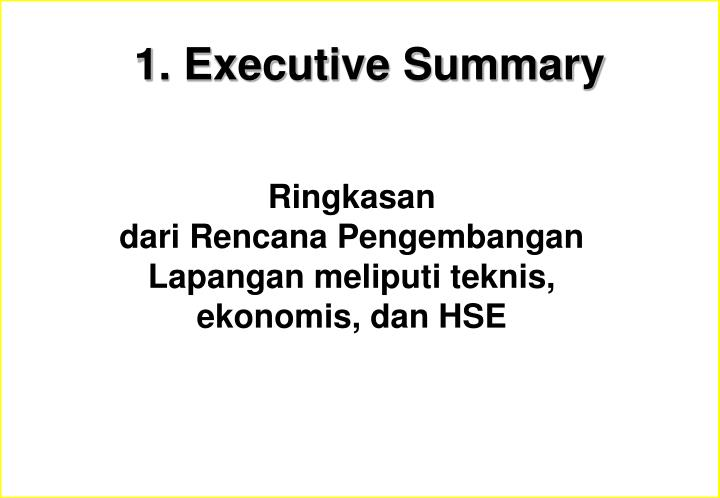 1. Executive Summary