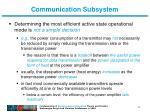 communication subsystem1