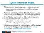 dynamic operation modes4