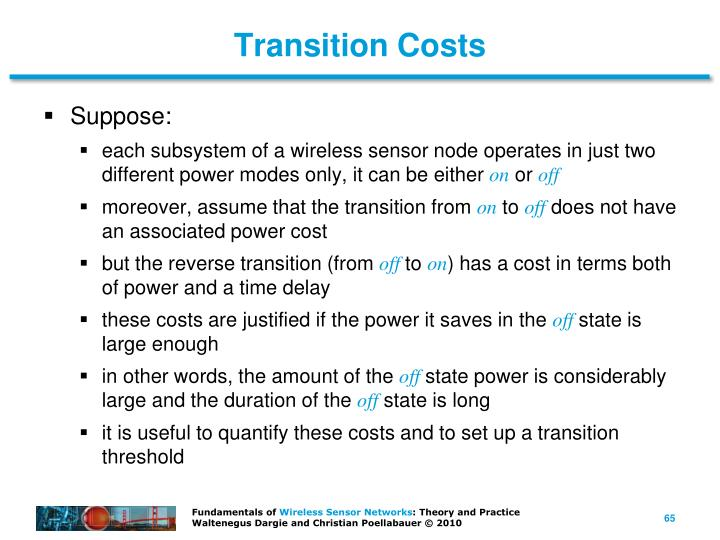 Transition Costs