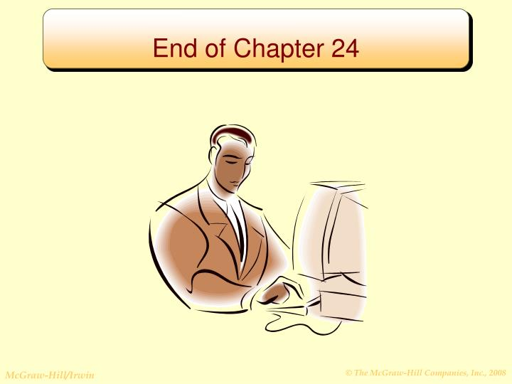 End of Chapter 24