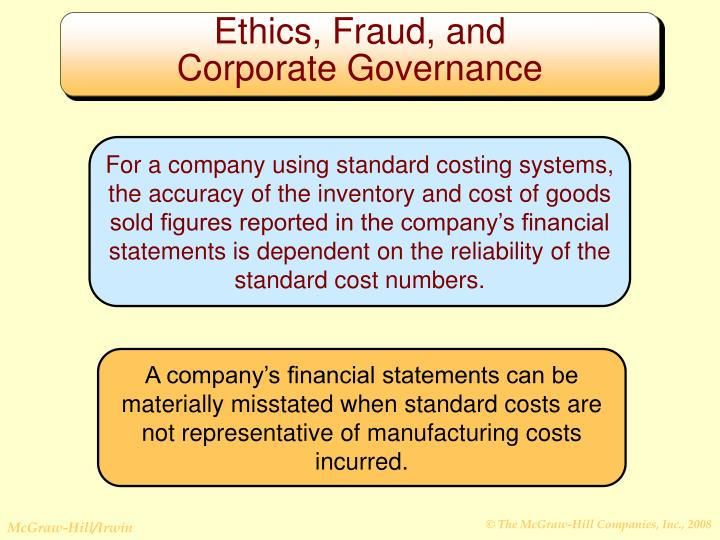 Ethics, Fraud, and