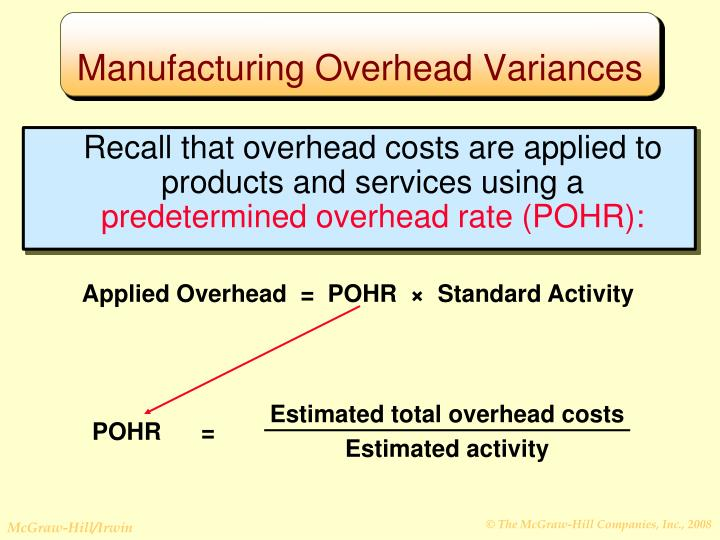 Recall that overhead costs are applied to products and services using a