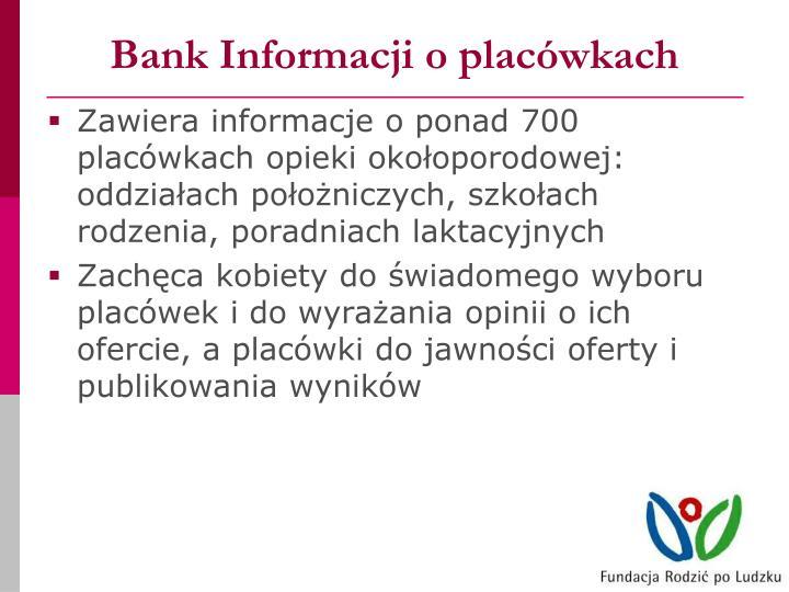 Bank Informacji o placówkach