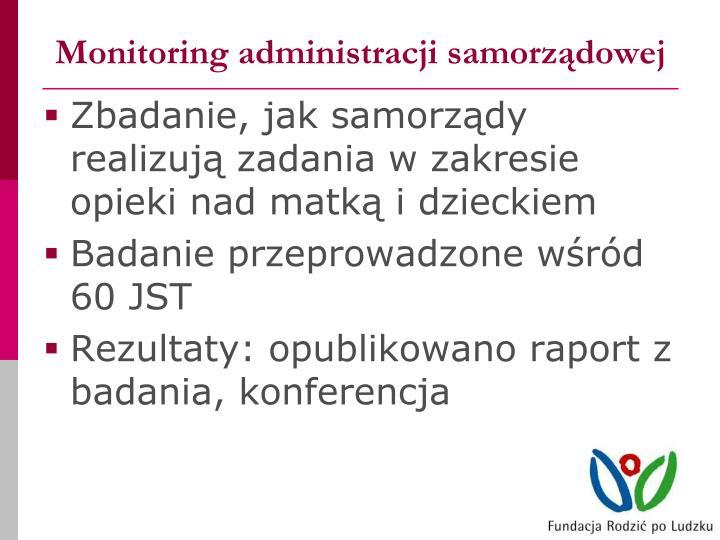 Monitoring administracji samorządowej