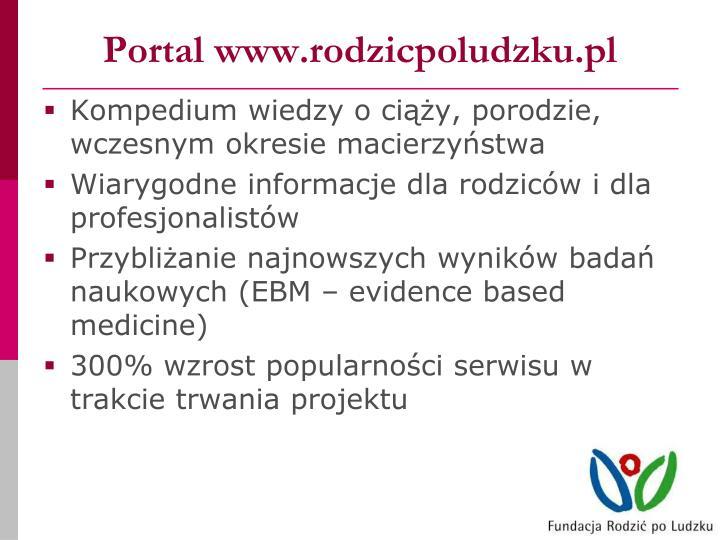 Portal www.rodzicpoludzku.pl