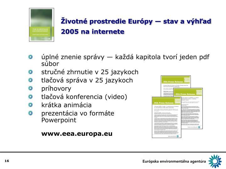 Životné prostredie Európy — stav a výhľad