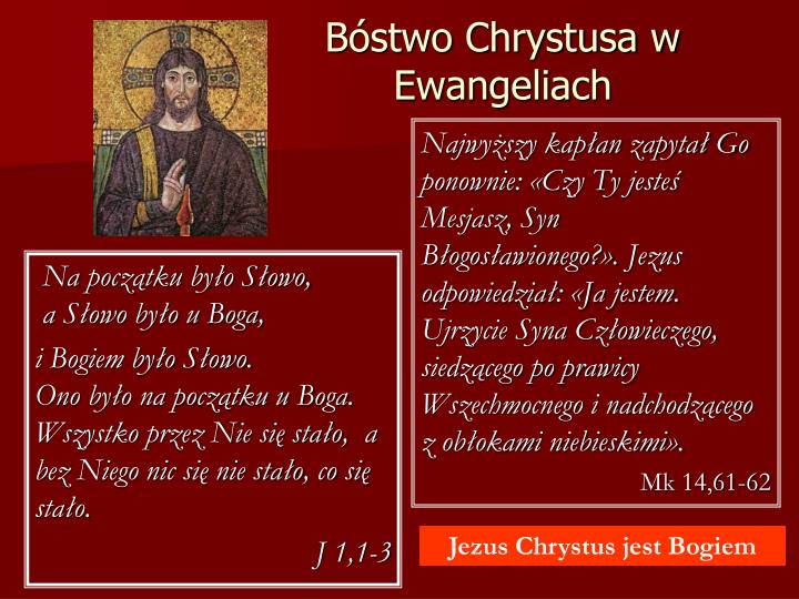 Bóstwo Chrystusa w Ewangeliach