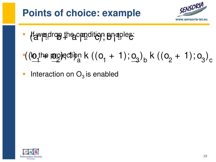 Points of choice: example