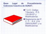 base legal de procedimiento cobranza coactiva de sunat