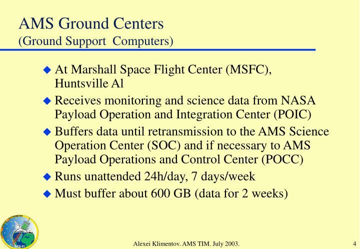 AMS Ground Centers