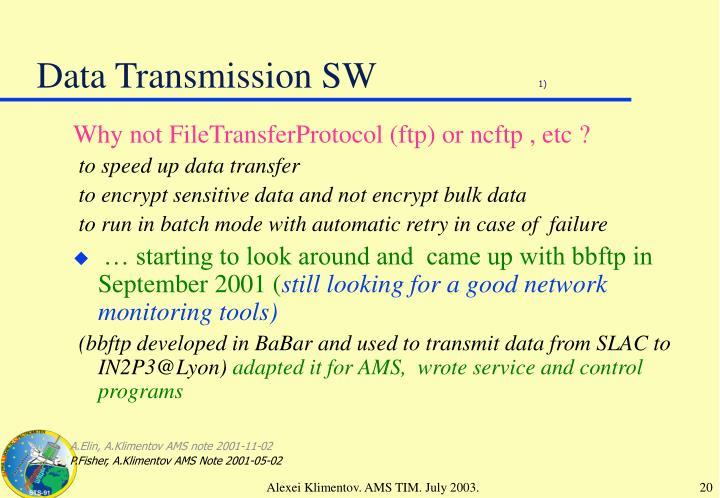 Data Transmission SW
