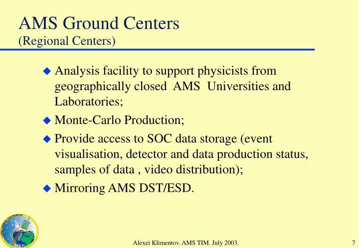 (Regional Centers)