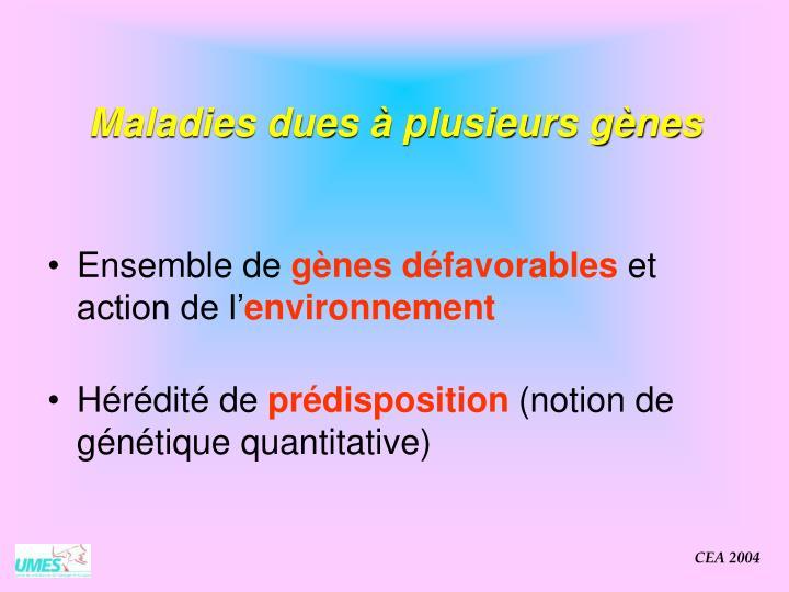 Maladies dues à plusieurs gènes