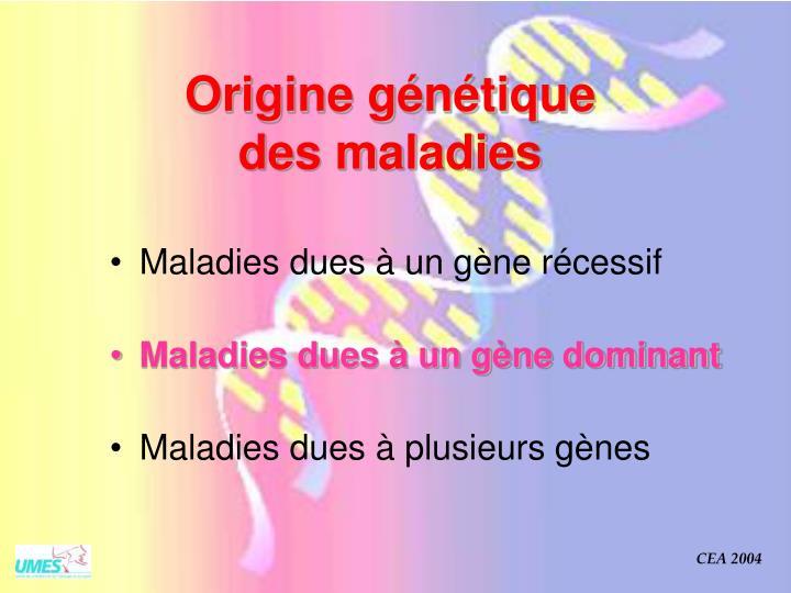 Origine génétique