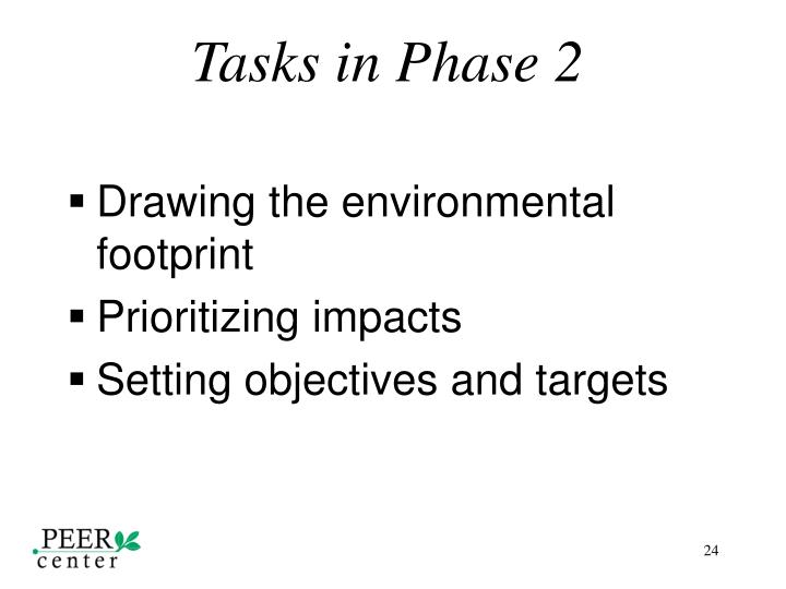 Tasks in Phase 2