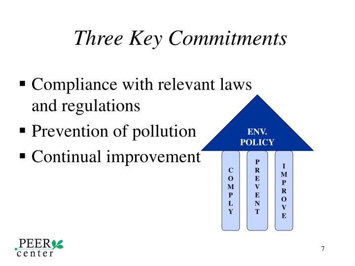 Three Key Commitments