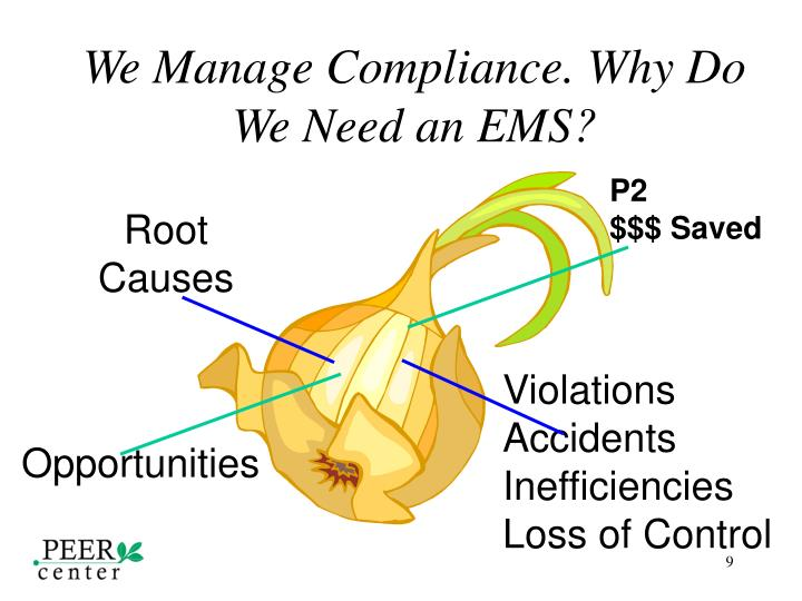 We Manage Compliance. Why Do We Need an EMS?