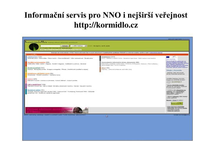 Informační servis pro NNO i nejširší veřejnost