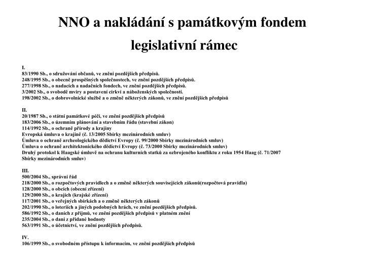 NNO a nakládání s památkovým fondem