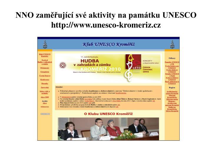 NNO zaměřující své aktivity na památku UNESCO
