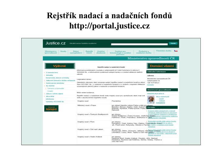 Rejstřík nadací a nadačních fondů