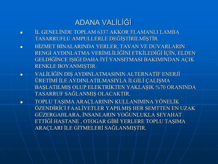 ADANA VALİLİĞİ