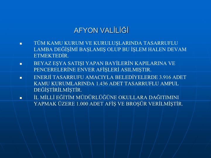 AFYON VALİLİĞİ