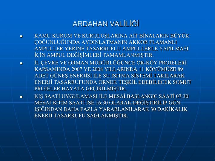 ARDAHAN VALİLİĞİ