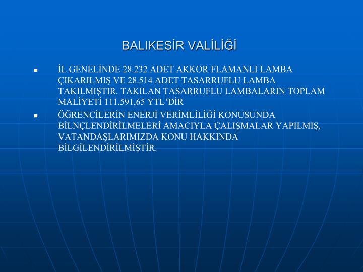 BALIKESİR VALİLİĞİ