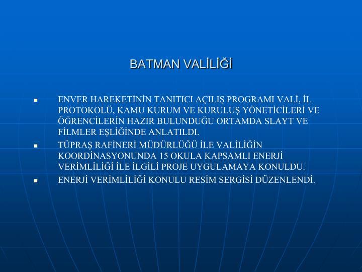 BATMAN VALİLİĞİ