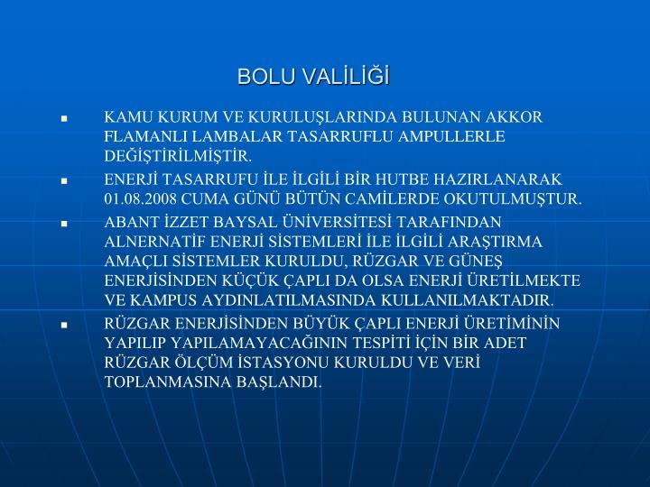 BOLU VALİLİĞİ