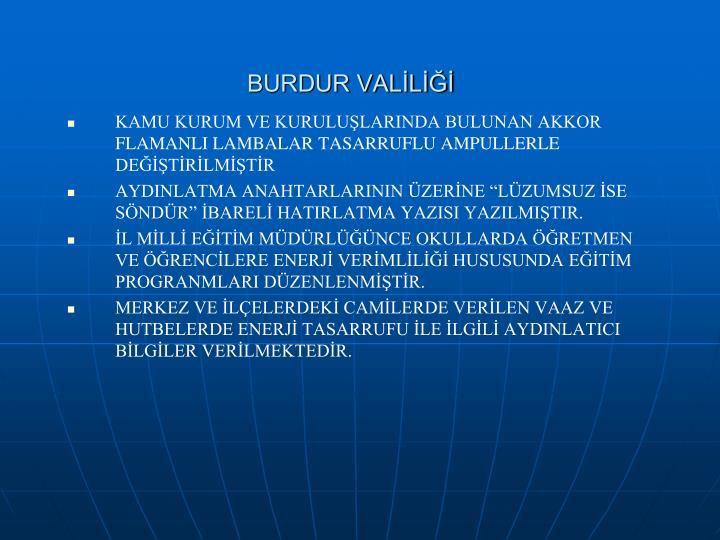 BURDUR VALİLİĞİ