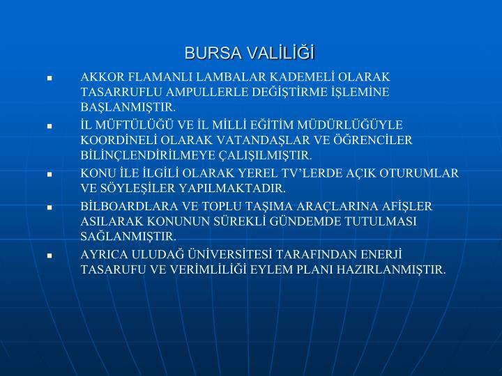 BURSA VALİLİĞİ