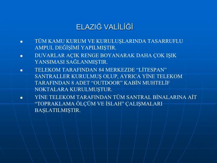ELAZIĞ VALİLİĞİ
