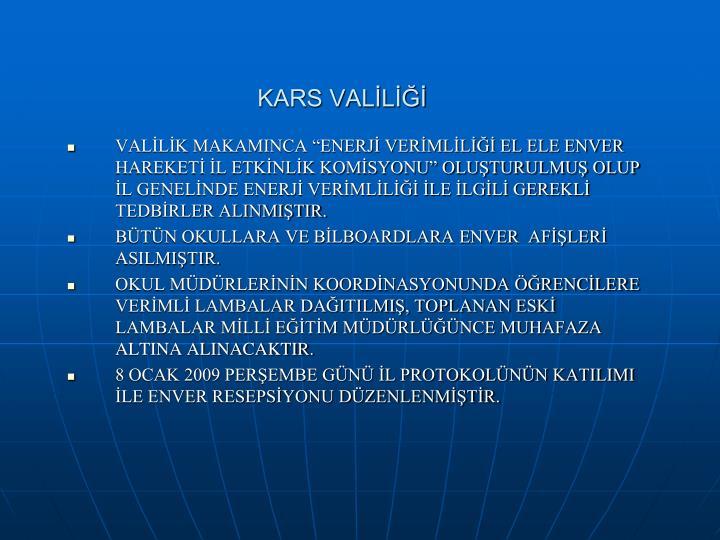 KARS VALİLİĞİ