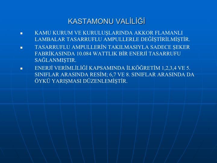 KASTAMONU VALİLİĞİ