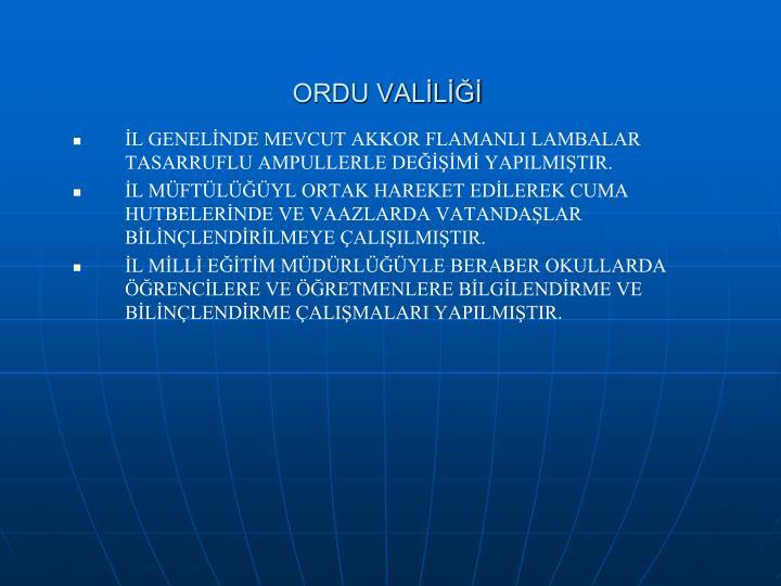 ORDU VALİLİĞİ