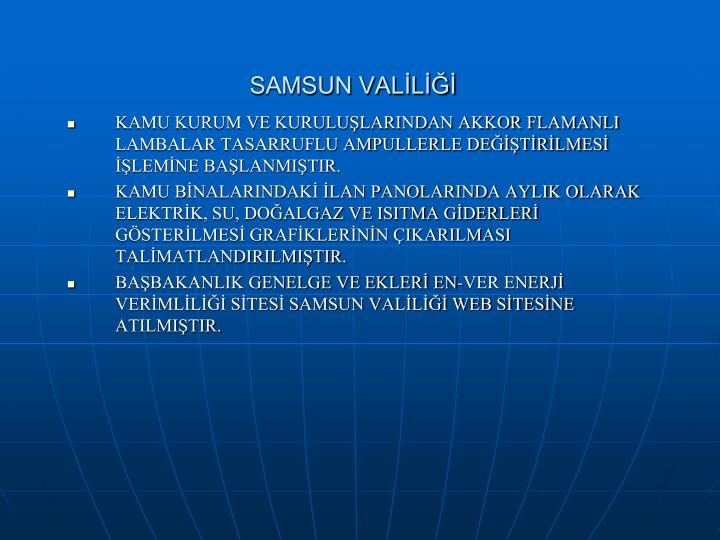 SAMSUN VALİLİĞİ