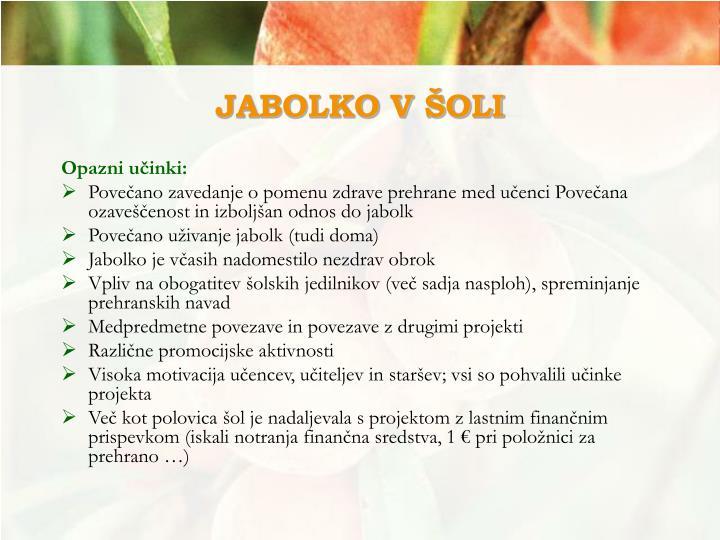 JABOLKO V ŠOLI