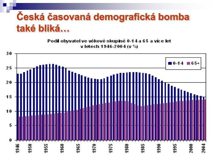 Česká časovaná demografická bomba také bliká…