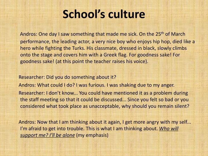 School's culture