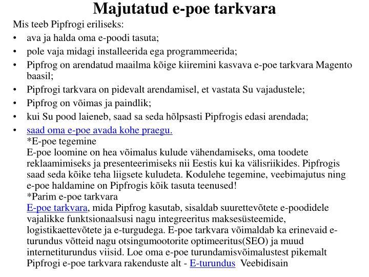 Majutatud e-poe tarkvara