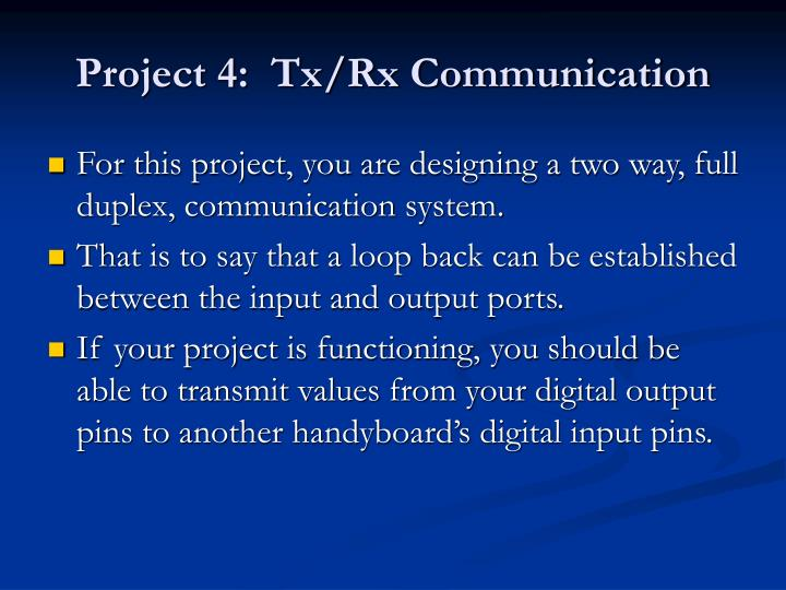 Project 4 tx rx communication