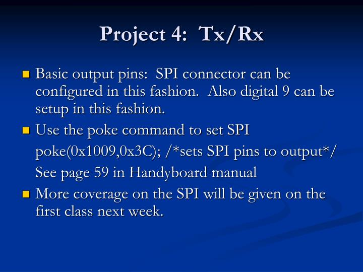 Project 4:  Tx/Rx
