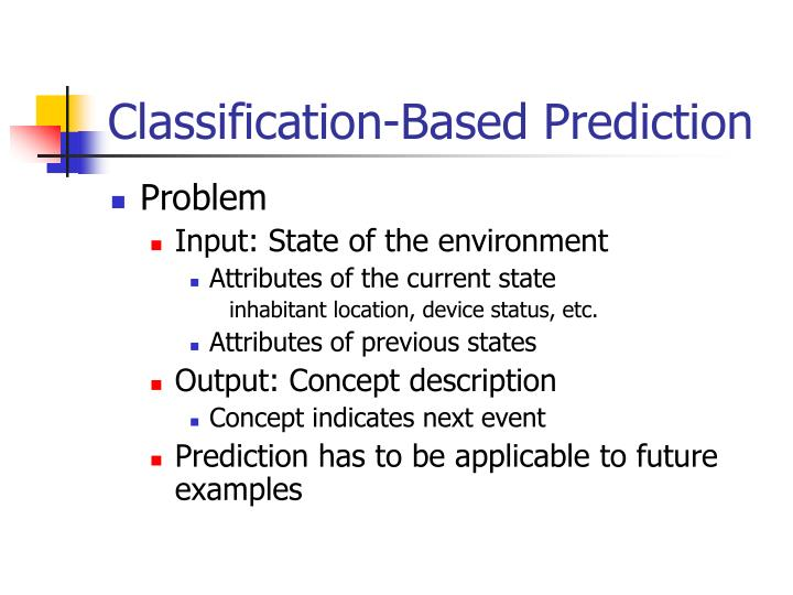 Classification-Based Prediction