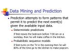 data mining and prediction1