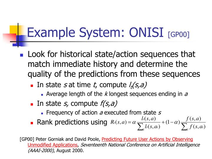 Example System: ONISI