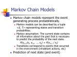 markov chain models