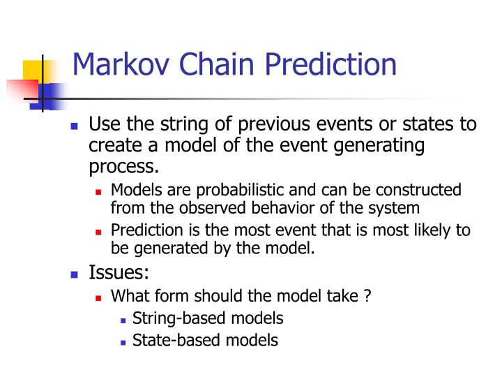 Markov Chain Prediction